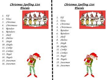 Christmas Spelling