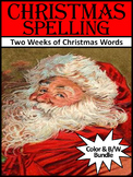 Christmas Activities: Christmas Spelling Activity Bundle - Color&BW