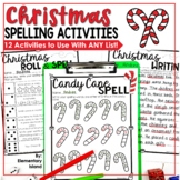 Christmas Spelling Activities for ANY List