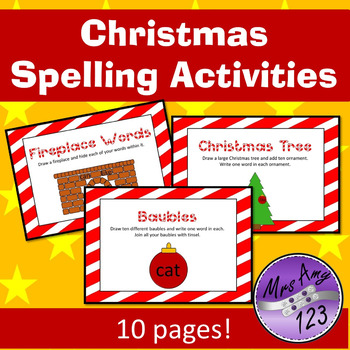 Christmas Spelling Activities
