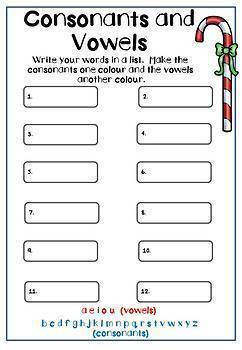 christmas spelling activities x 20 any word list