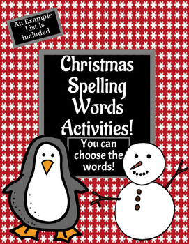 Christmas Spelling Activity Templates