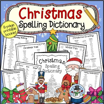 NEW!  Christmas Spelling Dictionary: Word List Booklet
