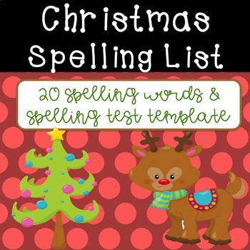 Christmas Spelling List