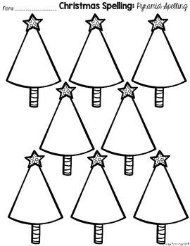 Christmas Spelling List and Activities FREEBIE