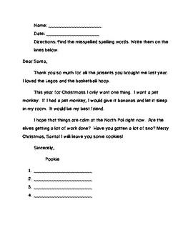 Christmas Spelling Mini Unit