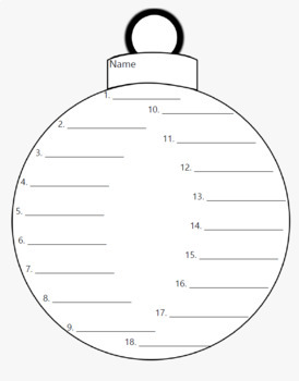Christmas Spelling Paper