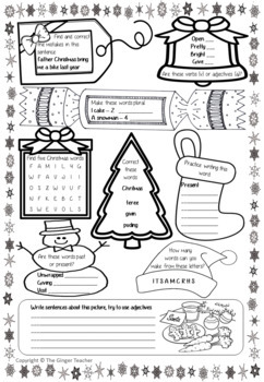 Christmas Spelling, Punctuation and Grammar Workbook