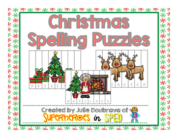 Christmas Spelling Puzzles