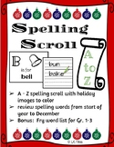 Christmas Spelling Scroll A to Z Activity
