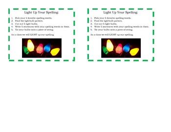 Christmas Spelling Task Cards