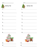 Christmas Spelling Template