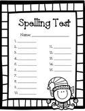Christmas Spelling Test Paper - 15 word
