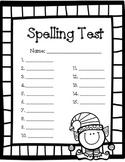 Christmas Spelling Test Paper - 15 word