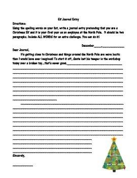 Christmas Spelling Words Packet
