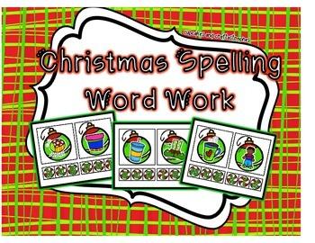 Christmas Spelling Word Work