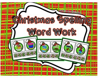 Christmas Spelling Word Work