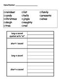 Christmas Spelling Words Pack