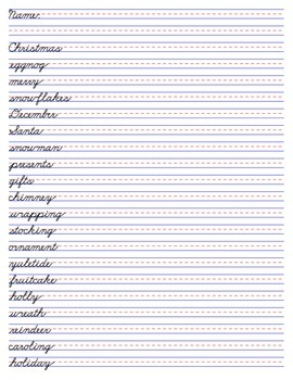 Christmas Spelling Words Pack - Older Kids