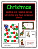 Christmas Spelling and Reading of Words with Consonant Blends