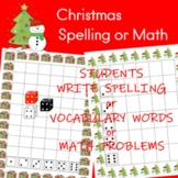 Christmas Spelling or Math Activity
