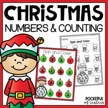 Christmas Spin and Cover Numbers 1-12