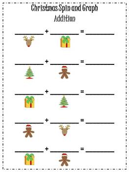 Christmas Spin and Graph Activities {FREEBIE}