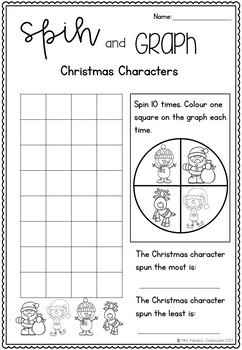 Christmas Spin and Graph Activity FREEBIE