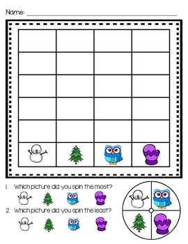 Christmas Spin and Graph Pack for Math Centers