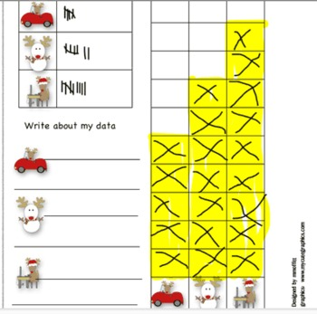 Christmas Spin and Graph Set for Interactive SmartBoard (Notebook 11)