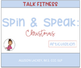 Christmas Spin and Speak for Articulation