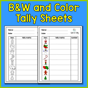 Christmas Spin and Tally - A Christmas Math Center for Early Learners