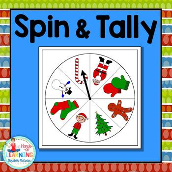 Christmas Spin and Tally - A Christmas Math Center for Ear
