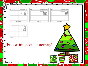 Christmas - Spin and Write Activity Sheets