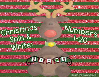 Christmas Spin and Write: Numbers 1-20