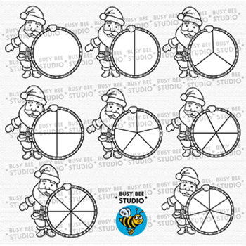 Christmas Spinners Clip Art