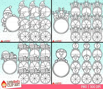 Christmas Spinners Clip Art Bundle