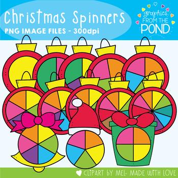 Christmas Spinners - Clipart for Teachers