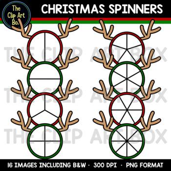 Christmas Spinners (Reindeer) - Clip Art
