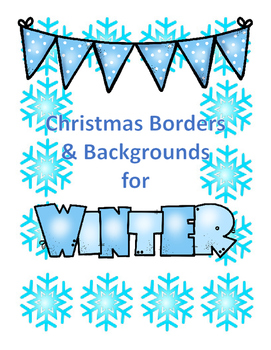 Christmas Borders & Backgrounds for Winter