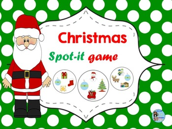 Spot De Noel Christmas Spot it Game   Jeu Spot it de Noël by The Rad Key to PBL
