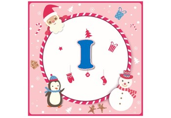 Christmas, Square Banner Bulletin Board Letters, Décor, Pink Alphabet Posters