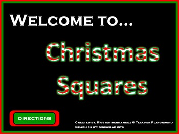 christmas squares activinspire game template (hollywood squares), Powerpoint templates