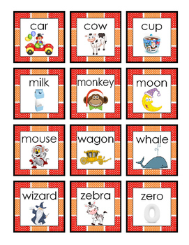 Christmas Squares Orange Red C M W Z Game Short Story Trace Write Crescent 4pgs