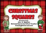 Christmas Squares Review Game Template - Promethean ActivInspire Flipchart