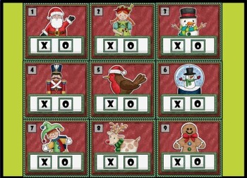 Christmas Squares Review Game Template - Smart Notebook File