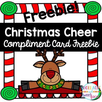 Christmas Compliment Card - FREEBIE