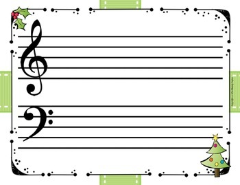 Christmas Staff Paper Variety Pack for Elementary Music Students