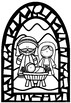 Christmas Stained Glass Window Nativity Templates ~ Bible Theme