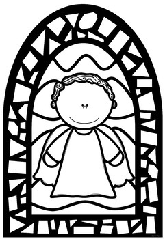 Christmas Stained Glass Window Nativity Templates ~ Bible Theme | TpT